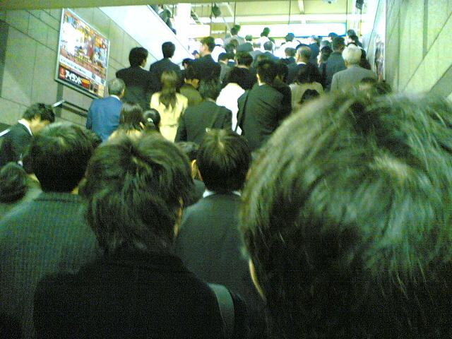 上野駅渋滞