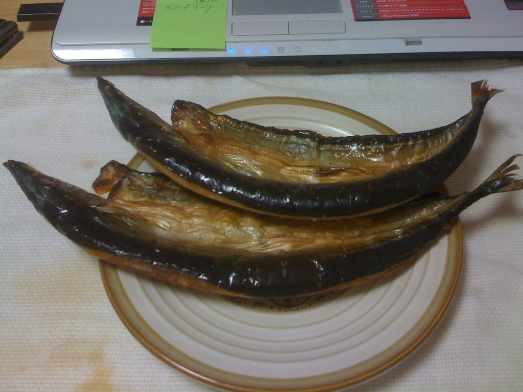 大震災後の秋刀魚の開きが美味しかった