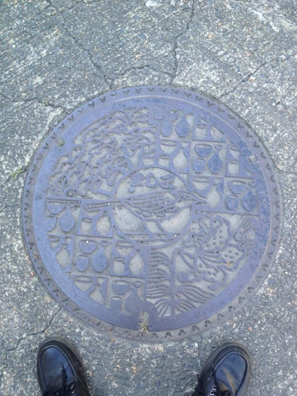 益子町のマンホール
