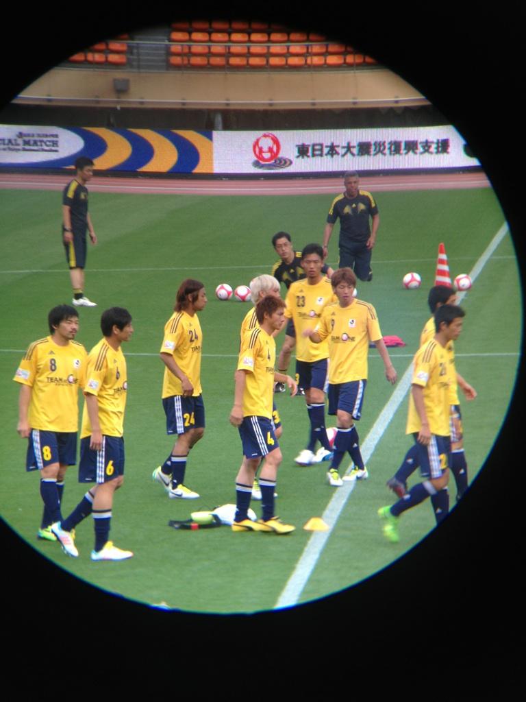 東日本大震災復興支援マッチ前日の公開練習を見ています③